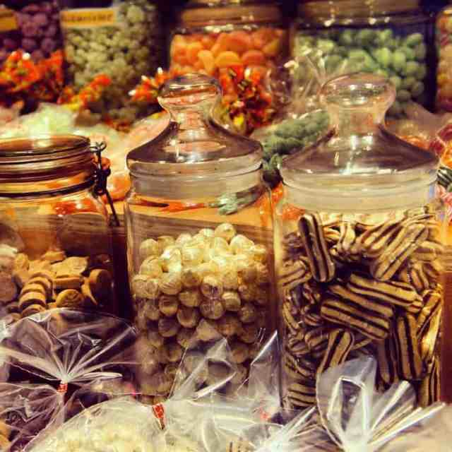 Local candies London Christmas market