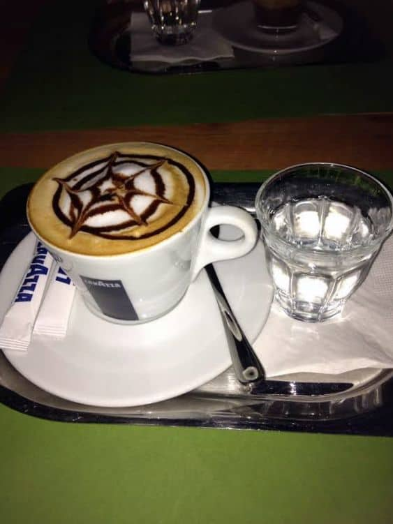 A lovely cup of coffee from Budapest