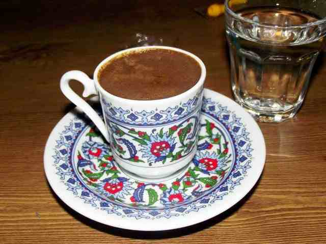 A cup of Turkish coffee