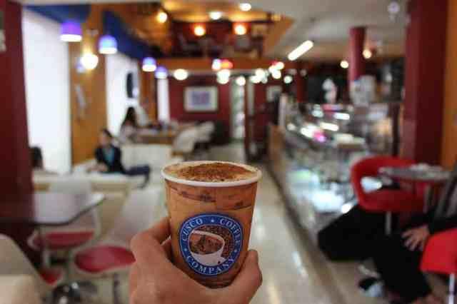 A cup of Peruvian coffee