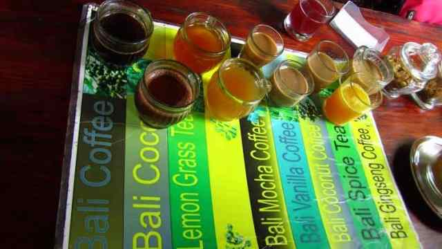A great variety of Bali coffee