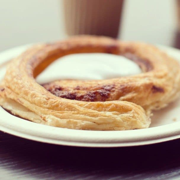 One of the most popular types of Danish pastry is the snegl (snail), which is a spiral cake packed full of cinnamon and butter, and topped with icing sugar.
