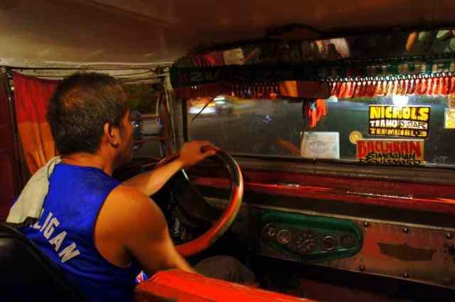 Jeepney driver in Manila