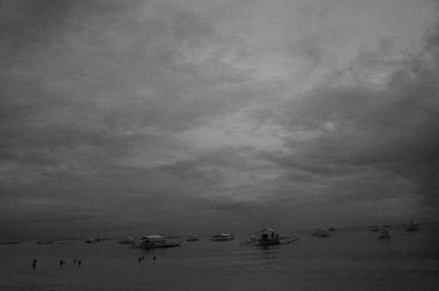 Alona beach in Black and White