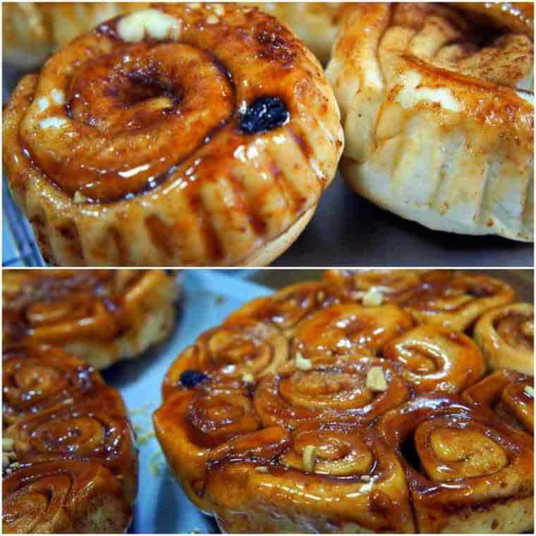 Yummy Apple and raisin roll cakes