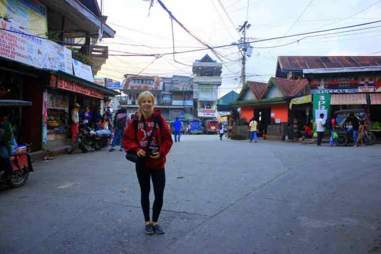 Strolling down the streets in Banaue