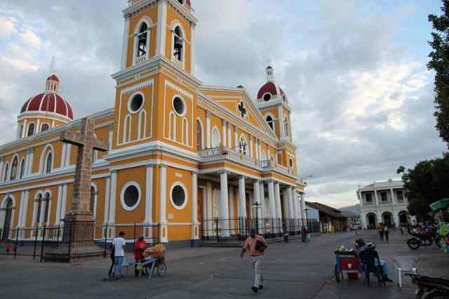 The colonial city of Leon in Nicaragua
