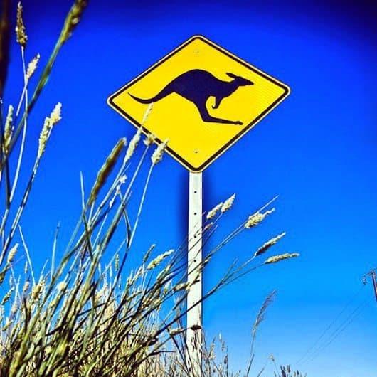 Australian sign road