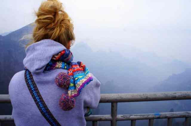 A girl in Zhangjiajie