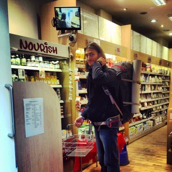Brock at health food store in dublin