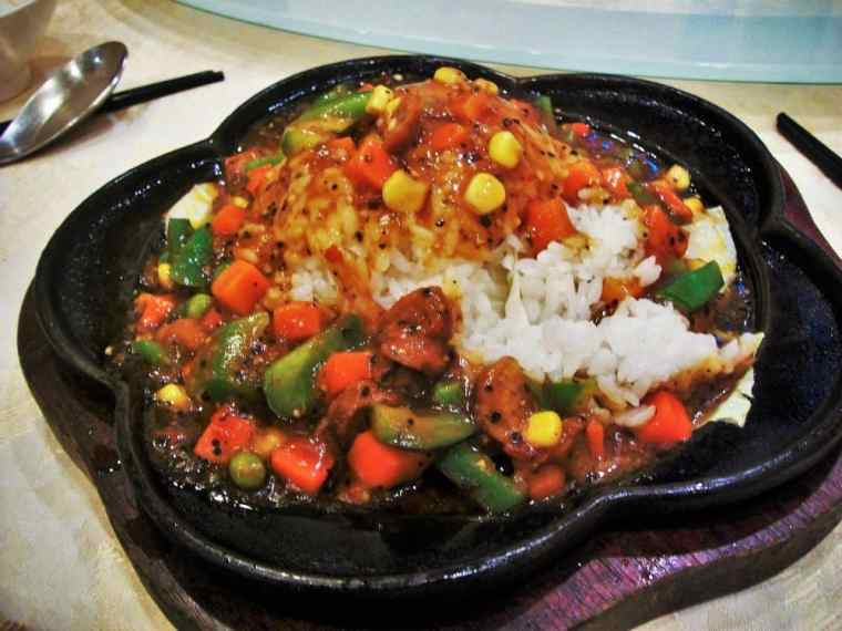 Steel cooked rice