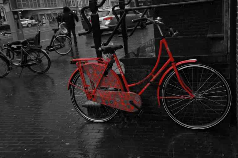 Red bike in Amsterdam
