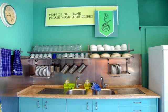 Kitchen at Goodmorning Hostel