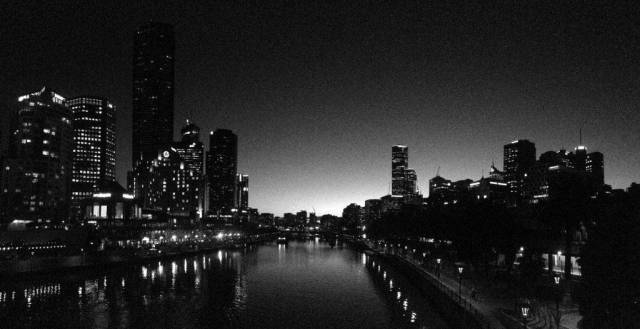 Sunset over the Yarra River