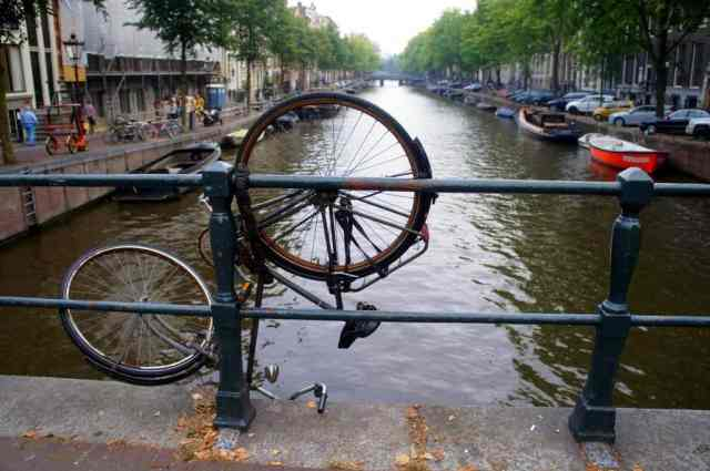 funny bike parked in Amsterdam