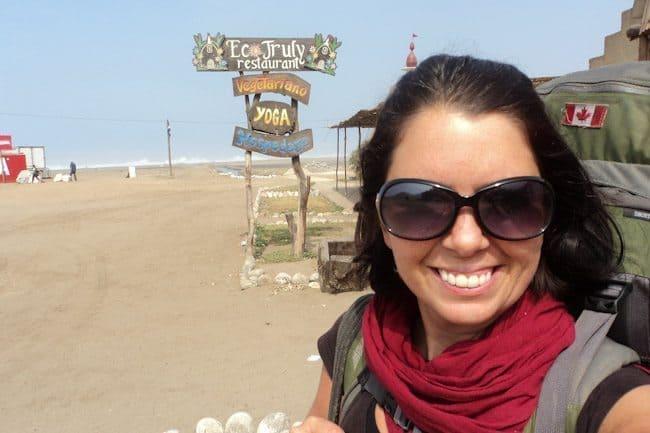 Ayngelina of Bacon is Magic outside Ero Truly in Lima, Peru
