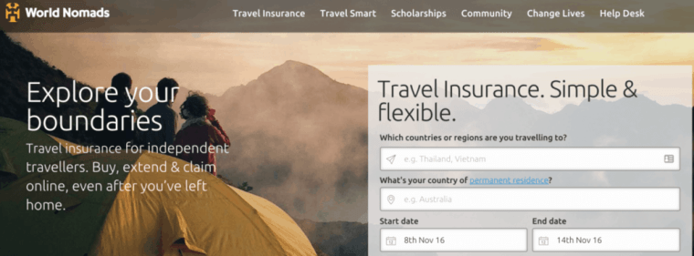 worldnomads travel insurance