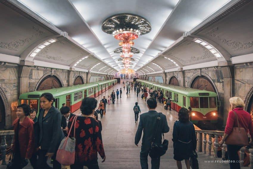 Metro in North Korea