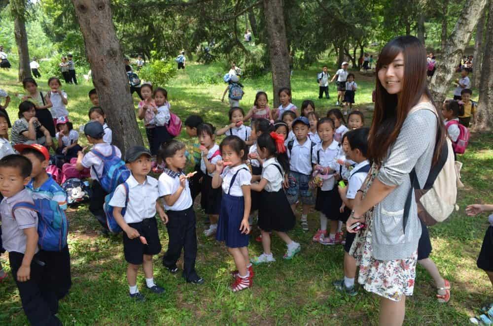 North Korean students