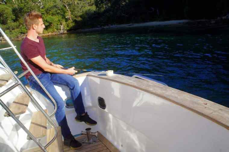 Cez fishing at Sydney Sensational Cruise