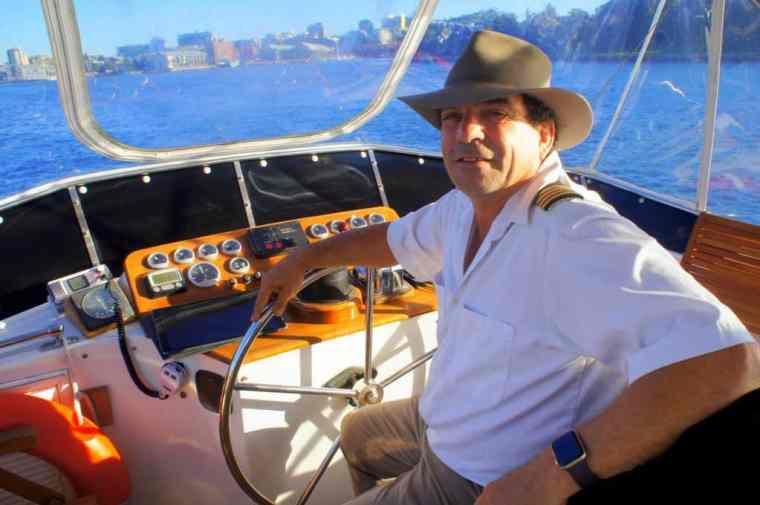 The captain of Sydney Sensational Cruise