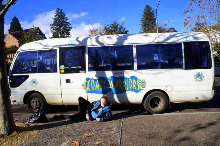 Coast Warriors van