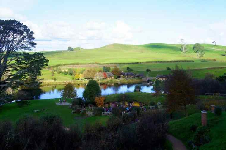 The Hobbiton landscape