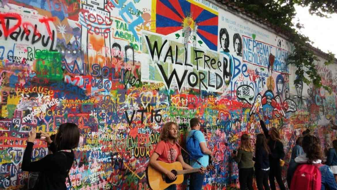 The Lennon Wall, Czech Republic