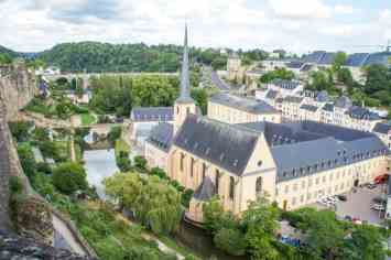 The view of Luxembourg from top