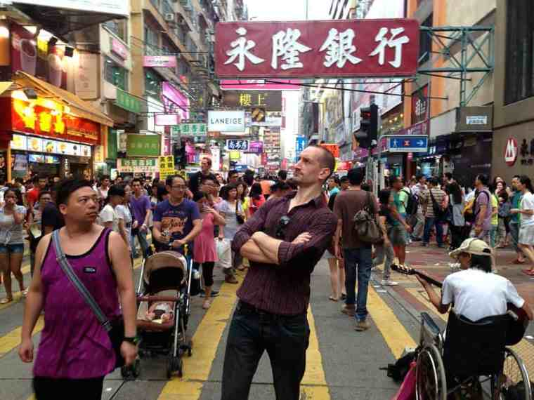 Trying to blend in in Hong Kong