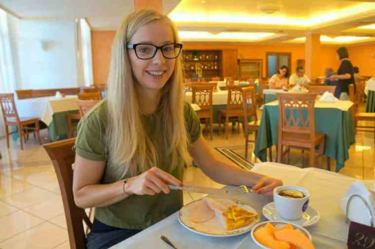 Breakfast at Hotel Valle Rossa, San Giovanni Rotondo