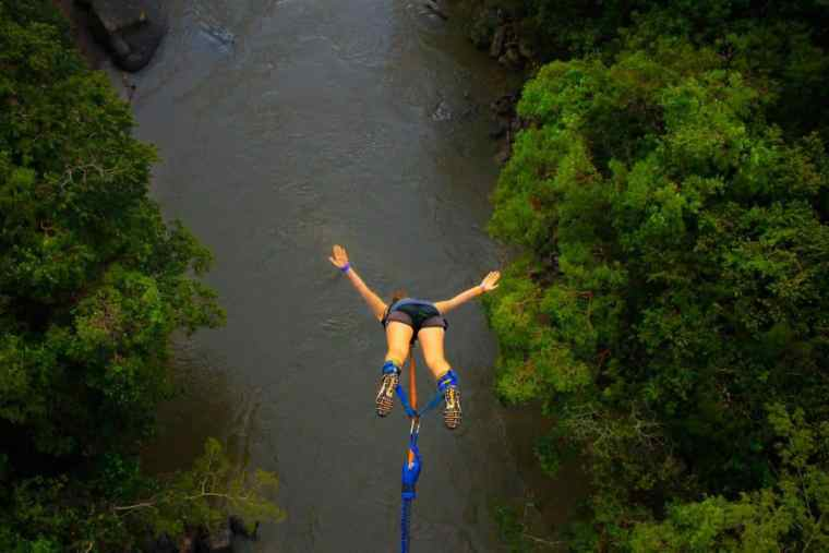 Bungee jumping, San Gil, Colombia