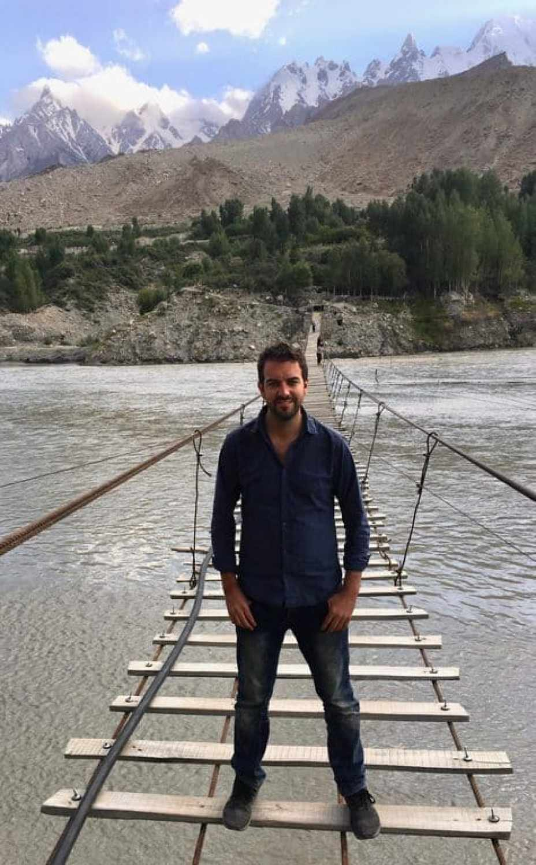 Don't look down! Hussaini Bridge