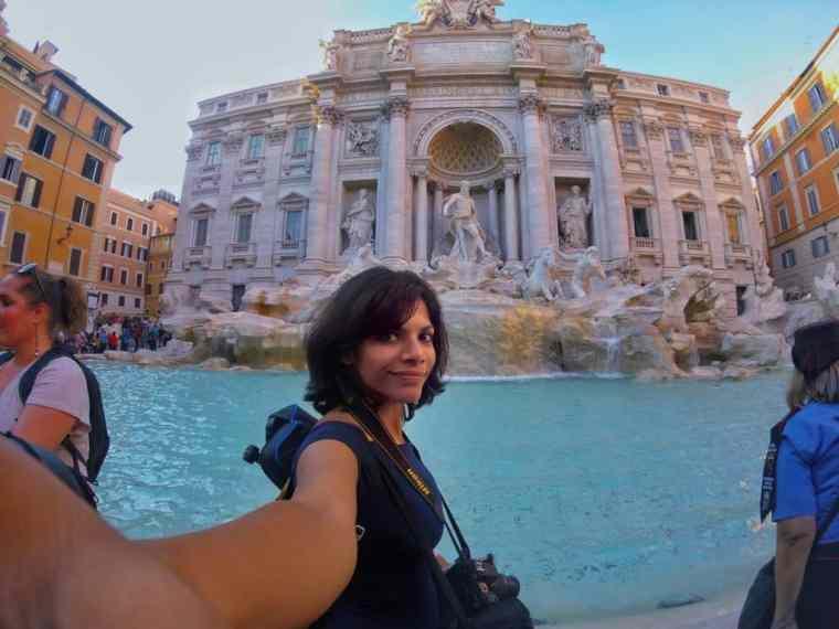 Radhika in Rome