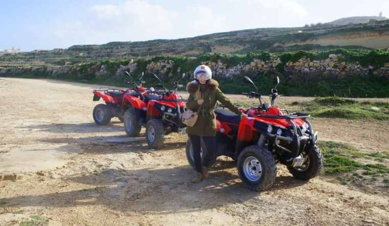 Agness and her quad bike
