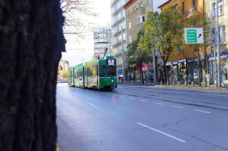 Tram in Sofia, Bulgaria