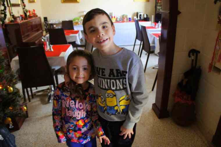 Kids at D'Ambrogio guesthouse