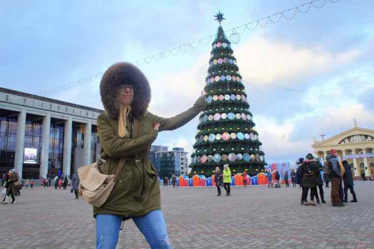 Agness in the city center in Minsk