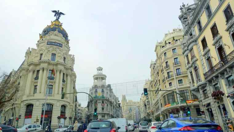 Walking in Madrid Spain