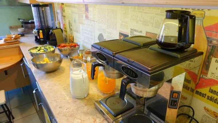Kitchen of Goodmorning Hostel