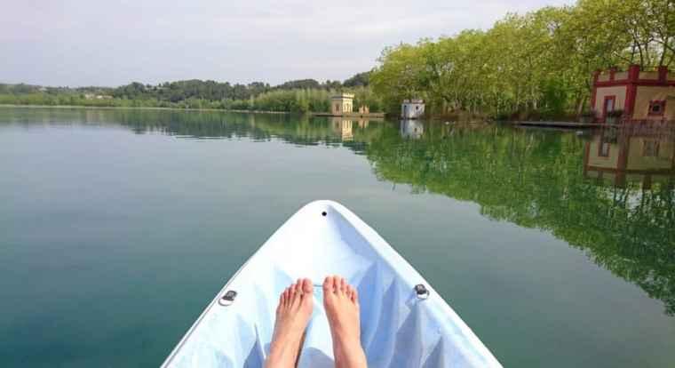 Kayaking in Banyoles