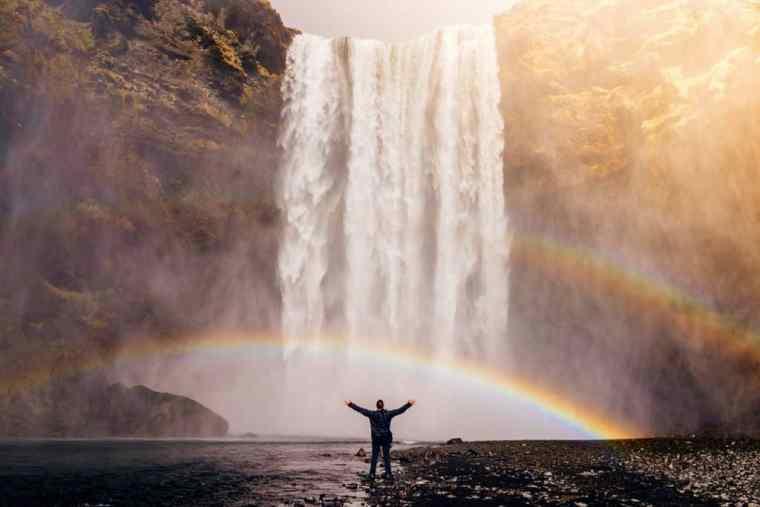 A beautiful waterfall