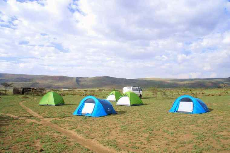 Camp Maasai village