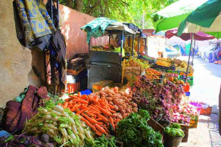 Just one example of the many colorful fruit and veg stalls.