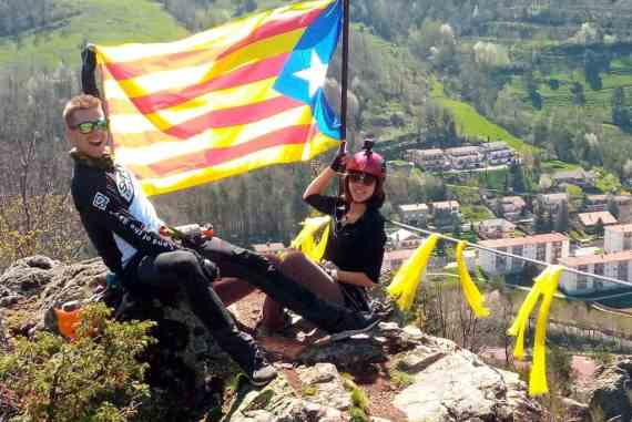 Flying the flag – one of my favourite pictures!