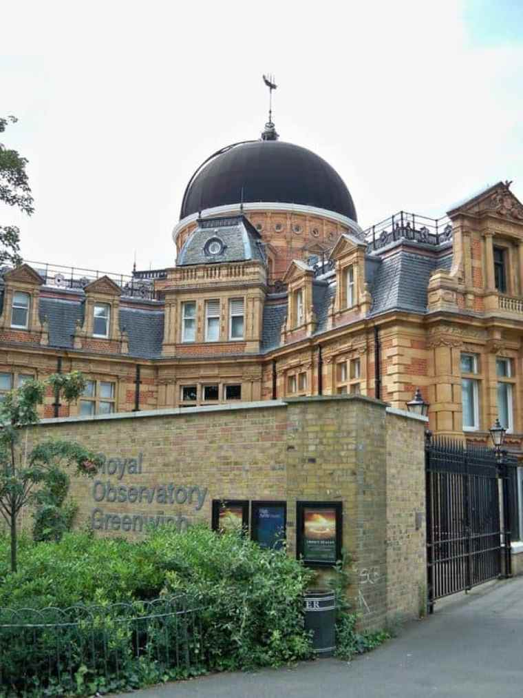 The Royal Observatory, Greenwich viewed from the entrance
