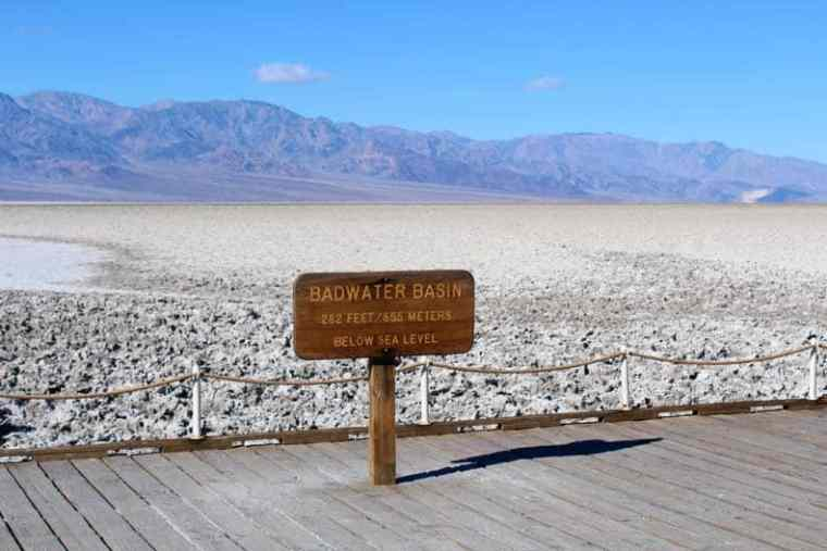 Sign at Badwater