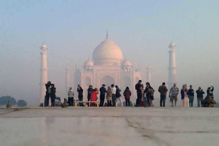 Taj Mahal in Sunrise