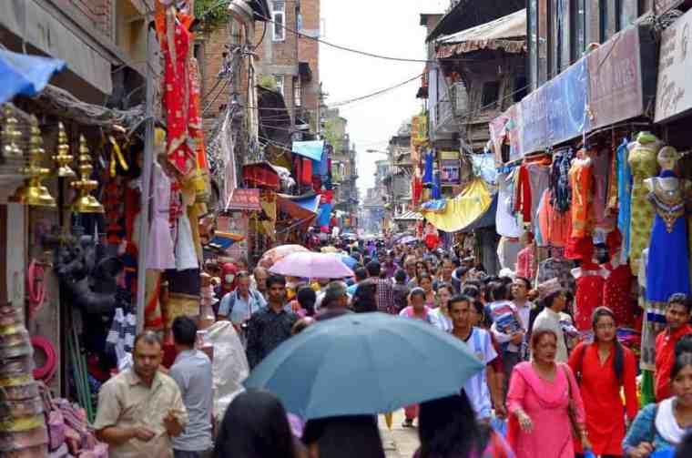 Locals in Kathmandu