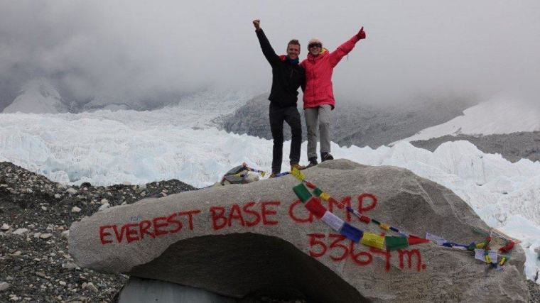 Lydia and Cez reach Everest Base Camp